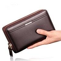 2016 Luxury Male Leather Purse Men S Clutch Wallets Handy Bags Business Carteira Masculina Wallets Men