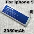 2950 mah batería de repuesto para apple iphone 5 iphone5 teléfono móvil global envío libre con número de seguimiento