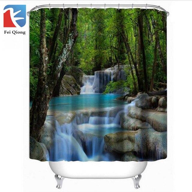Feiqiong Mildew Resistant Fabric Shower Curtain Waterproof Water Repellent Antibacterial 72x72