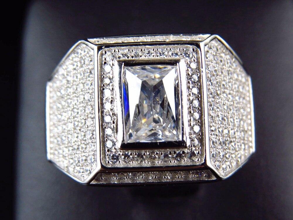 Luxury Antique Mens Ring Mens hip hop bling Vintage Bling men engagement band ring