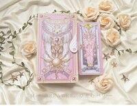 cardcaptor сакура розовый красный цвет 52 шт. клоу карты + книга набор ничего карты таро аксессуары реквизит новый