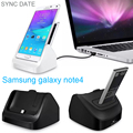 2in1 Dual Sync Date Battery Charger Cradle desktop Dock Station Adapter For Samsung galaxy note 4 With USB line