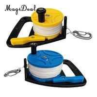 2Pcs Premium SMB Reel Dive Wreck Scuba Diving Diver Snorkeling Kayak Anchor with Handle & 150ft / 272ft Strong Line