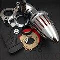 Del mercado de accesorios envío gratis piezas del motor Del Filtro de Aire de admisión para Harley Davidson 2008-2012 Dyna Road King Electra Glide FLHX CROMO
