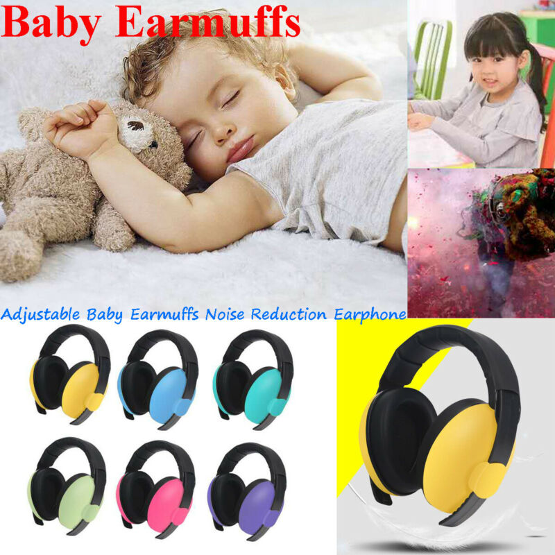 Newborn Infant Baby Earmuffs Ear Protection Safety Ear Muffs Noise Reduction Ear Syringe
