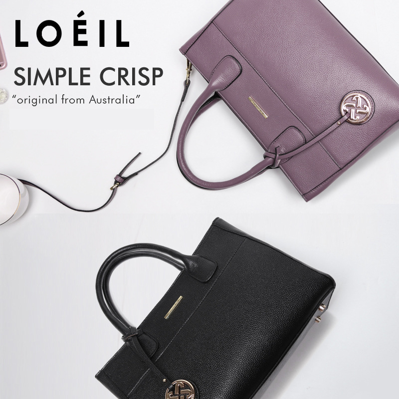 LOEILThe first layer of cowhide 2018 new women's bag European and American fashion one shoulder slung handbag big bag ladies одежда для отдыха european and american big pm110 2015