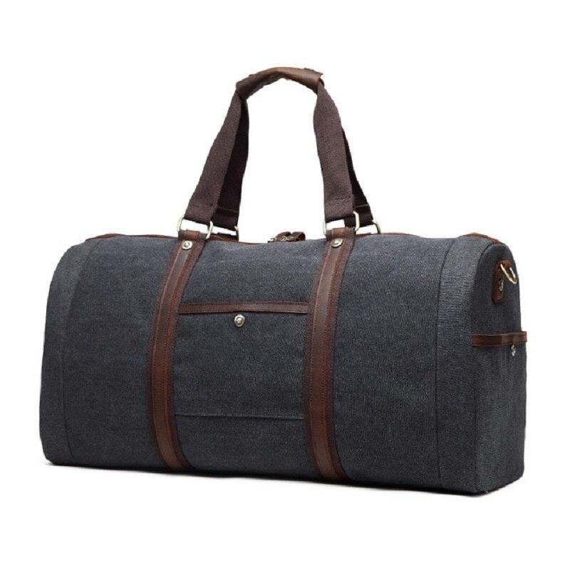 M254 nowe płótno skóra mężczyzn torby podróżne do przenoszenia torby podróżne męskie torby płócienne torebka torba podróżna duża torba weekendowa z dnia na dzień w Torby podróżne od Bagaże i torby na  Grupa 3
