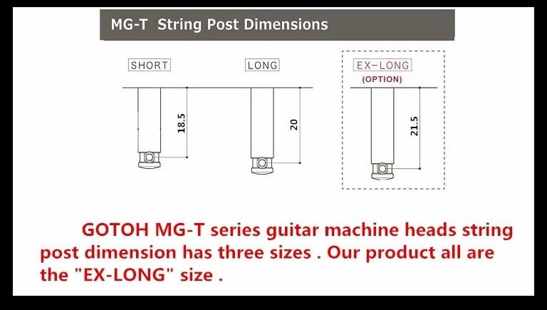 Echte Originele L3 + R3 GOTOH SG381 20 MGT Gitaar Vergrendeling Machine Heads Tuners (Chrome) MADE IN JAPAN - 5