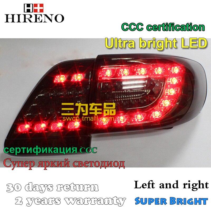 Hireno Tail Lamp for Toyota Corolla 2011 2012 2013 Taillight Rear Lamp Parking Brake Turn Signal Lights