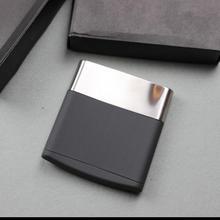 Creative Stainless Steel Cigarette Case Can Put 10Pcs Cigarettes Metal Cigarette