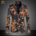 Large Size 3D Floral Blazer Men Brand-clothing 6XL 5XL High Quality National Style Party Men Blazer Slim Fit Blazer Masculino