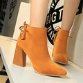 Inverno Outono Nova Fina Bombas Dos Saltos Altos Mulheres Botas Sapatos Da Moda Sapatos Elegantes Sensuais Confortáveis Sapatos Ankle Boot Preta SMYDS-A1004