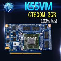 Amazoon For ASUS K55VM Graphic Card GeForce GT630M N13P GL A1 2GB Video card Fit A55V K55VM K55V Laptop video card 100% Test
