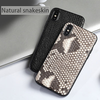 natural Python skin All inclusive phone case For iPhone X XS XSmax XR 6 7 8 8plus Solid color fashion protective case