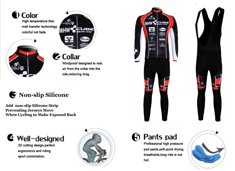 Super Warm Ropa Ciclismo Invierno Bike Clothing Mountain Bicycle Cycling Jerseys For Man Winter Thermal Fleece Cycling Clothes in Cycling Sets from Sports Entertainment