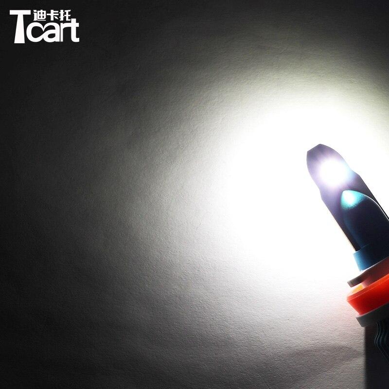 Tcart 1Set voiture LED phares 9005 feux de route H11 feux de croisement Auto phares ampoules lumineuses pour Nissan Sentra 2012-2018