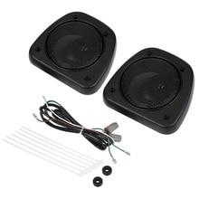 pair Black Audio Fairing Lower Speaker Kit For Harley Touring Street Glide FLTRX FLHTC FLHX FLHTCUTG 06-13 цена