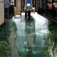 Beibehang Custom Flooring 3d Human Fairyland Peak Cliff Living Room Bathroom Decoration Painting 3D Floor Tiles