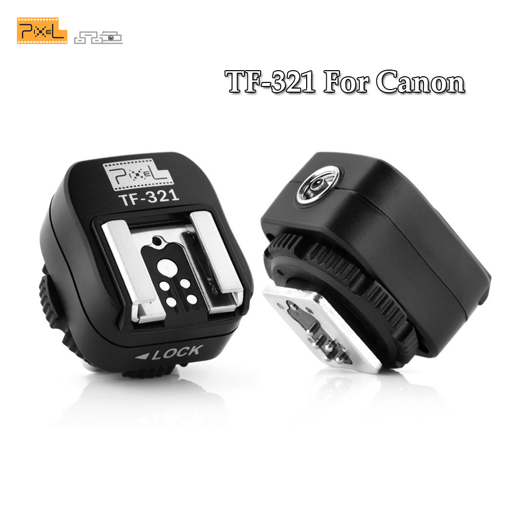 Pixel TF-321 E-TTL Flash Hot Shoe to PC Sync Socket Convert Adapter for Canon DSLRs and Flashguns TF321 Flash Hot Shoe Adapter аксессуар pixel pf 801 4 0m combined type ttl cable for canon