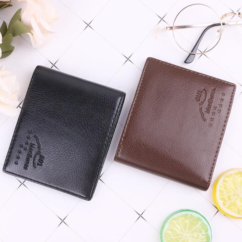 Fashion Men's Business Small Short Wallet Pocket Coin Card Money Holder Case Clutch Bifold Slim Mini Purse Hot New Design 2019