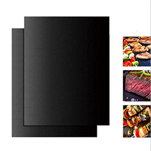 Non-stick Bbq Grill Mat Baking Teflon Cooking Grilling Sheet Heat Resistance Easily Cleaned Barbecue Matt Kitchen BBQ Tools