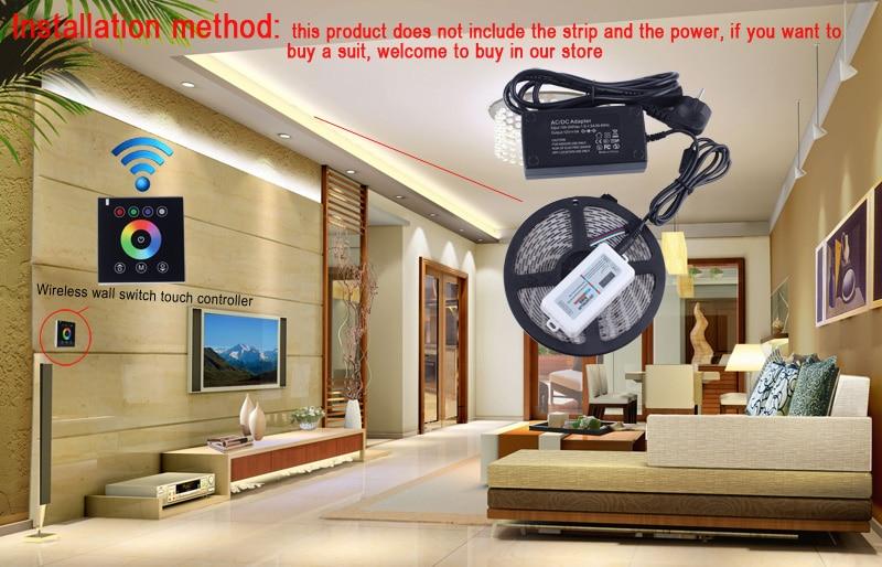 RGB Controllers 2.4G անլար Սև գույնի անջատիչ - Լուսավորության պարագաներ - Լուսանկար 6