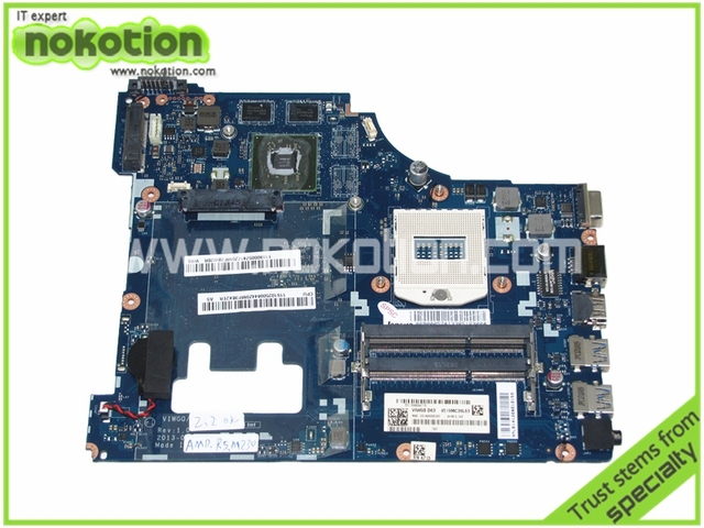 US $89 1 10% OFF|NOKOTION VIWGQ/GS LA 9641P Laptop Motherboard for Lenovo  G510 VIWGQ GS ATI Radeon R5 M230 Graphics Intel HM86 Mainboard -in