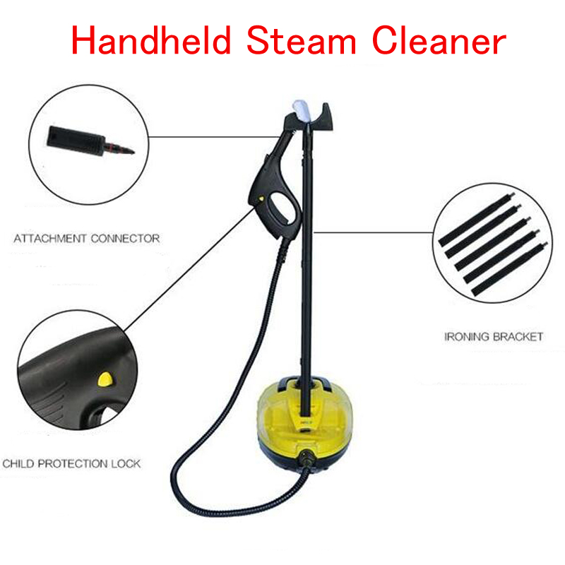 Handheld Steam Cleaner Movable Steam Cleaning Machine for Home Cloth Garment Steamer High Pressure Floor Cleaner HB-998 cleaning cloth hand tool cover sock x 5 for karcher sc 1402 sc1402 steam cleaner