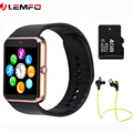 Hot Lemfo GT08 Smart Watch phone take call Clock Sync Notifier support SIM TF Card bluetooth Smartwatch for Apple Android Phone
