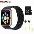 Hot lemfo gt08 smart watch teléfono llamada toma de sincronización de reloj notificador apoyo sim tf tarjeta bluetooth smartwatch para apple android teléfono