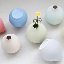 Europe Modern Pink blue yellow Artificial Flower Ceramic Vase Floret Bottle Fashion Desktop Decorative Flowers Vases