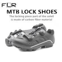 8821a962bc 2018 FLR formación profesional nivel de fibra de carbono MTB bicicleta  zapatos bloqueo zapatos respirables ultra