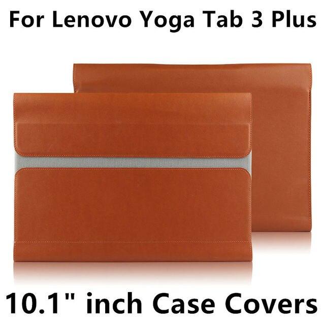 لينوفو اليوغا تبويب 3 زائد 10 واقية غطاء الذكية قرص الجلد ل tab3 زائد YT X703F X703 10.1 بوصة حامي كم