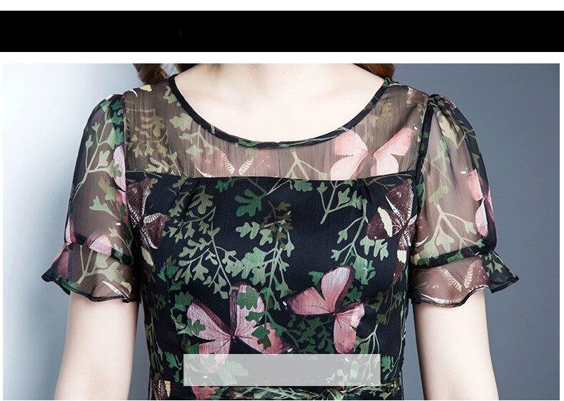 KMETRAM Women Summer Dress 2018 Female Plus Size Chiffon Dresses Ladies  Floral Blue Vestidos Women Ruffle Dress Elegant MY392-in Dresses from  Women s ... b68635a0c9e8