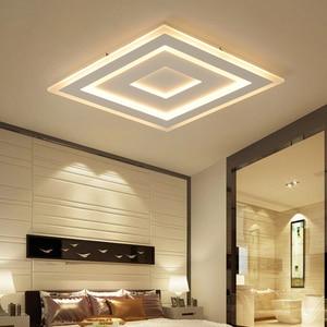Image 3 - NEO זוהר דק משטח רכוב מודרני Led תקרת אורות lamparas דה techo מלבן אקריליק/כיכר תקרת מנורה גופי