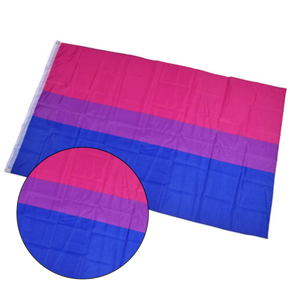 90*150cm <font><b>Bisexual</b></font> <font><b>Pride</b></font> Flag LGBT Pink Blue Rainbow Flag Home Decor Gay Friendly LGBT Banners image