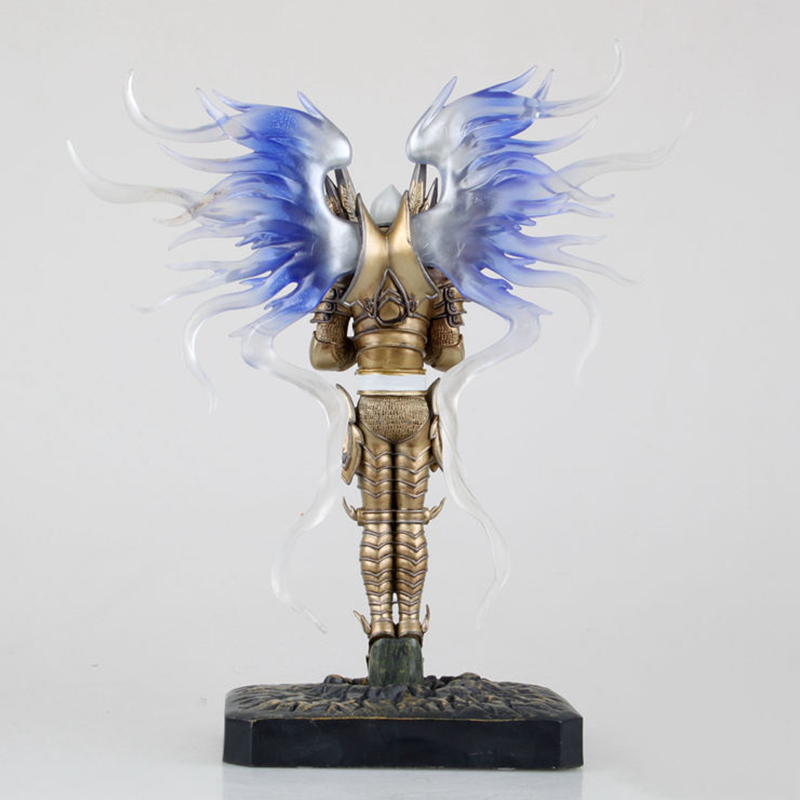 Game WOW Dark Seraphim Tyrael Archangel 28cm PVC Action Figure Toys Gifts Model Collections Free Shipping 2