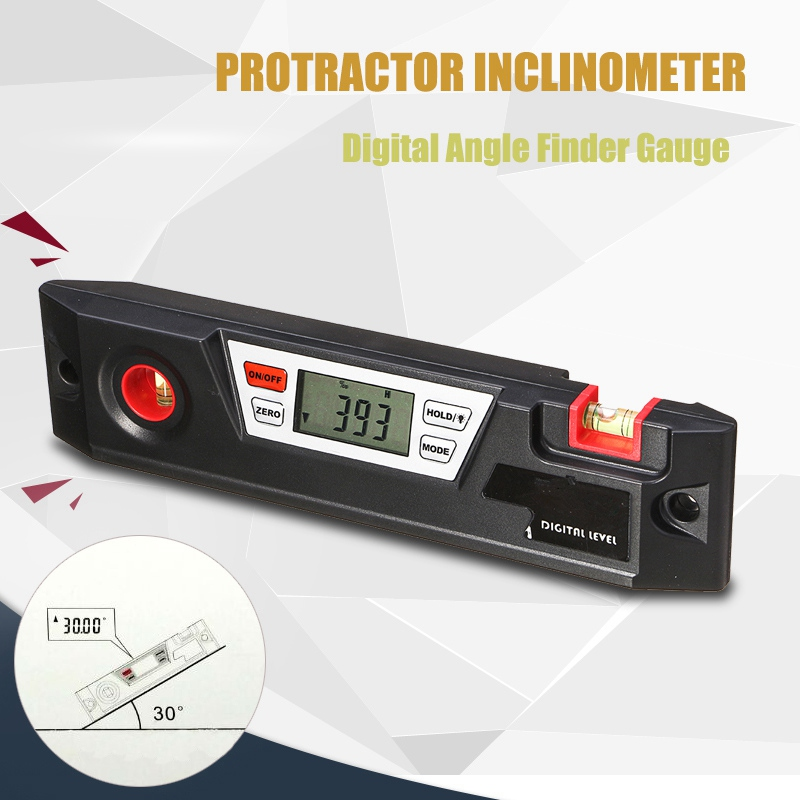360 Degree Digital Protractor Inclinometer Angle Finder Box Electronic Level Measuring Tool Angle Meter Spirit Level Angle Gauge 400mm 16in backlight lcd digital protractor spirit level angle meter inclinometer angle finder measuring tool