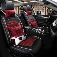 Универсальный автомобильный чехлы на сиденья авто чехлы для автомобильных аксессуаров для Nissan Sylphy G11 B16 B17 марта Паладин Micra K13 Мурано