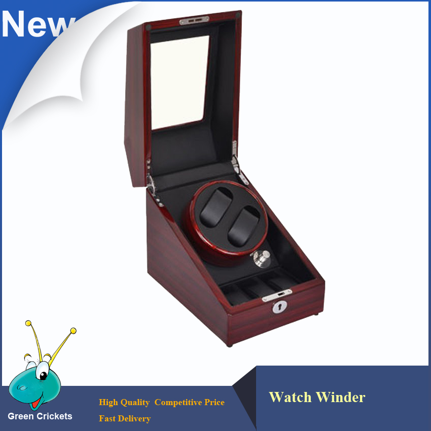 ФОТО Veined wood Color Motor Watch Winder Self-winding Wath Winder,Daul Gallery Luxury Watch Display Watch Winder