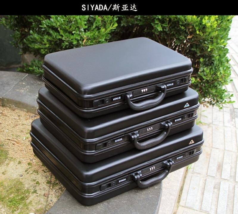 good quality Aluminium tool case toolbox Aluminum frame Business advisory suitcase Man portable suitcase briefcase two
