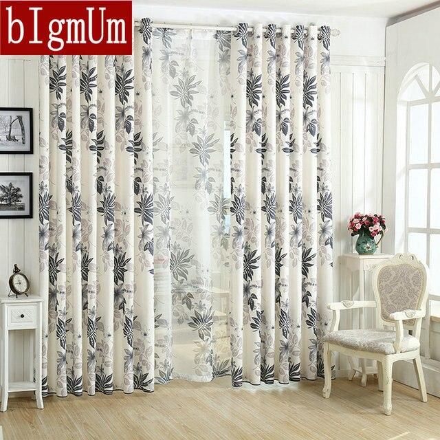 aliexpress.com : leinen blatt druck orange/grau/lila vorhang zwei ... - Vorhange Schlafzimmer Grau