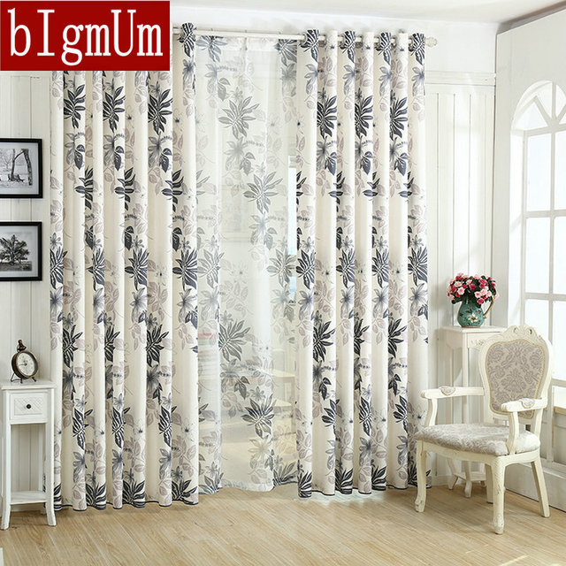 Bedroom Curtains bedroom curtains and drapes : Aliexpress.com : Buy Linen Leaf Printing Orange /Grey/ Purple ...