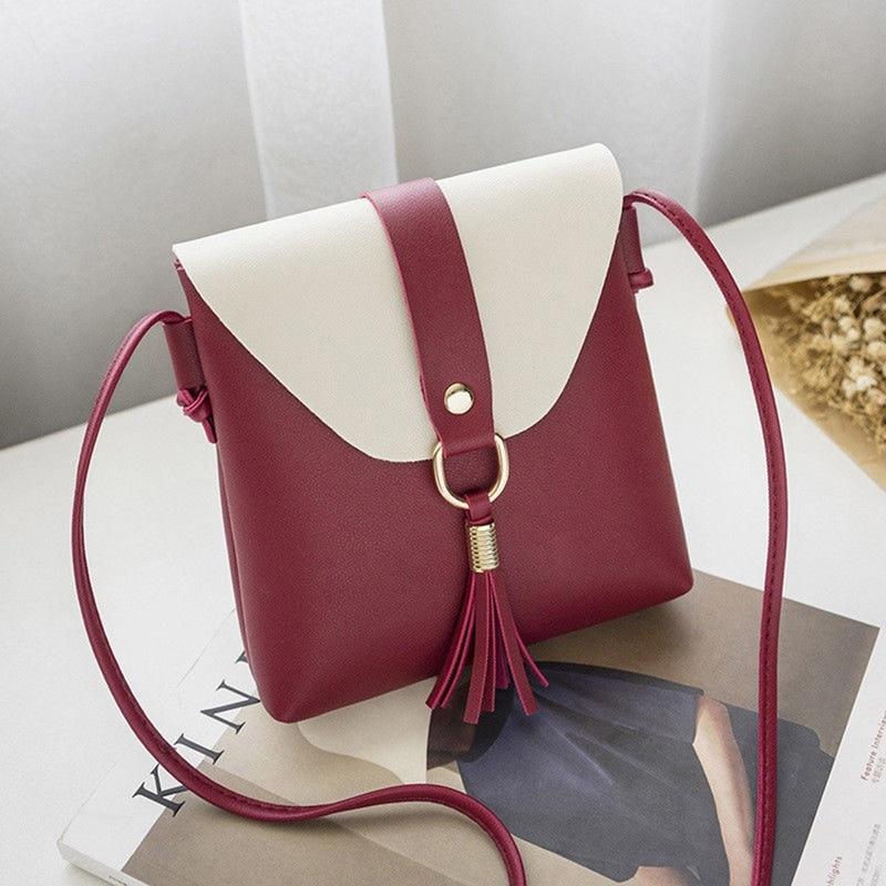 Fashion Tassels pu leather shoulder bag cross body messenger hasp messenger bags woman luxury bags for women Bolsas Feminina
