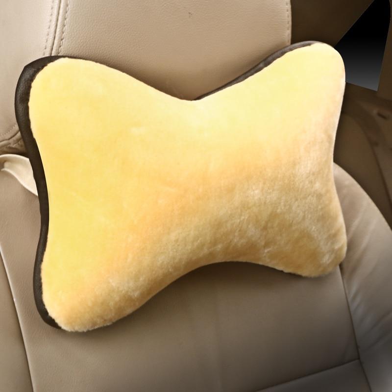 2Pcs Vehicle Car Soft Warm Headrest Neck Pillow Automotive Seat Head Rest Plush Cushion Car Interior Accessories Winter