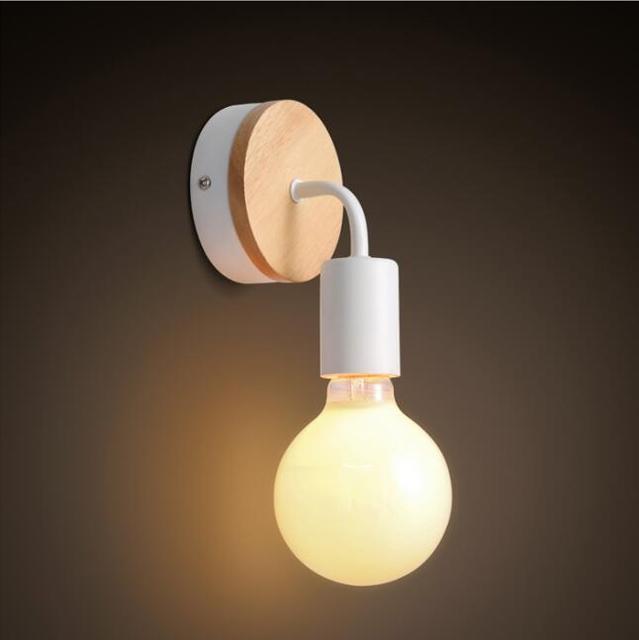 Illuminazione moderna Lampada Da Parete In Legno Camera Da Letto ...