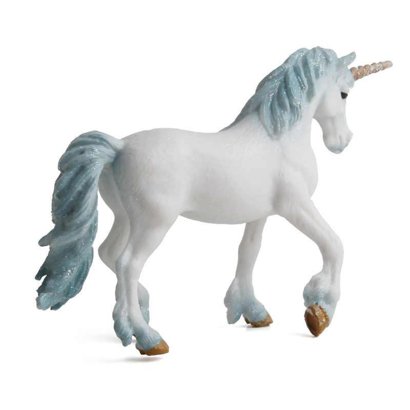 ヨーロッパ神話ユニコーン置物ペガサスエルフミニチュア動物モデル妖精フライング馬のアクションフィギュア子供コレクションおもちゃ