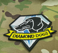 1 pcs 8.2*10cm Metal Gear Solid 5 Diamond Dogs Movie magic tape embroidered Patches For Clothes Garment Applique DIY Accessory