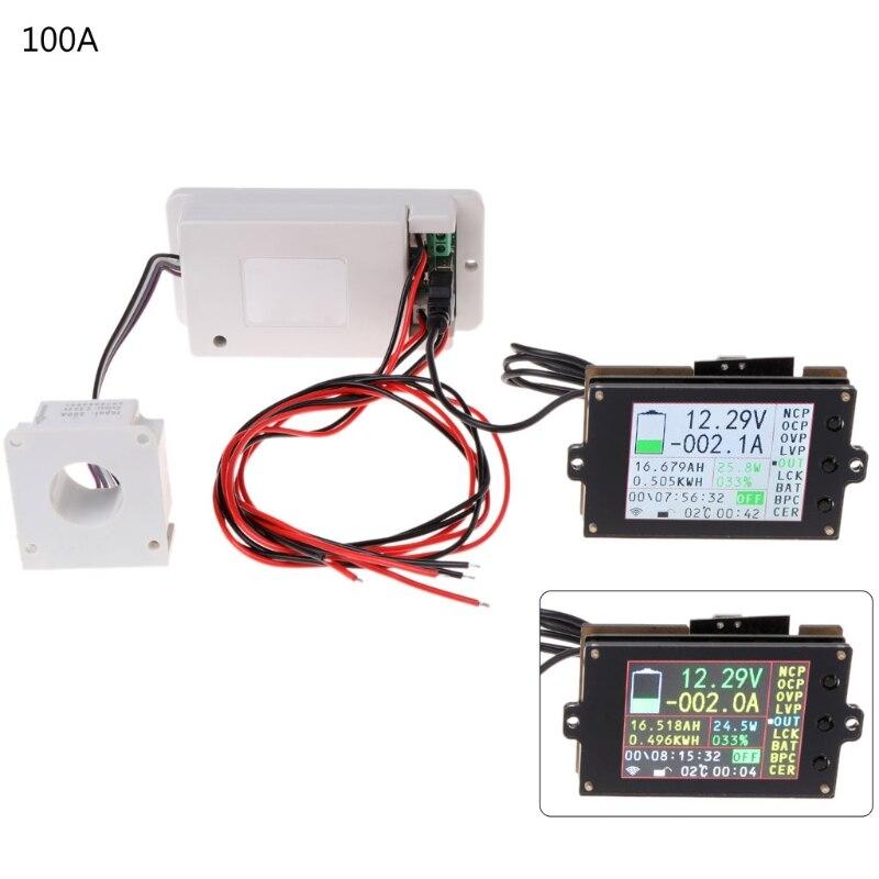 DC 500V 100A 200A 500A compteur de tension sans fil ampèremètre batterie solaire charge coulomètre capacité détecteur de puissance testeur