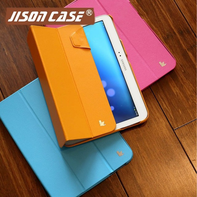 US $29 55  Slim Folding Case for Samsung Galaxy Tab 3 10 1 Inch Android  Tablet With Smart Cover Feature For TAB 10 1 for wholesale 5 pcs-in Tablets  &